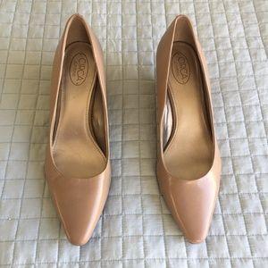 Leather wedge heels NWOT – Size 9
